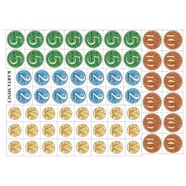 Karta mincí (Kč)