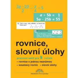 Algebra 9 (rovnice a slovní úlohy), pracovní sešit