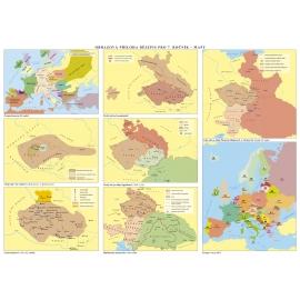 Časové přímky a mapy k učebnici Dějepis 7 - Středověk, počátky novověku
